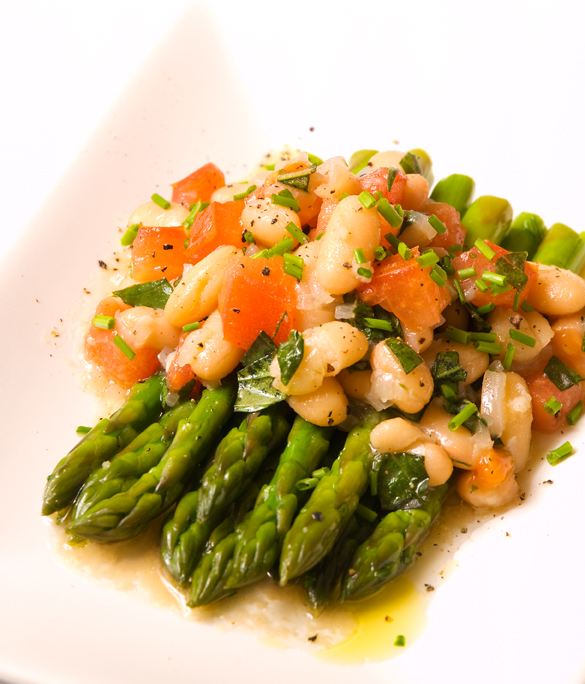 Asparagus with Cannellini