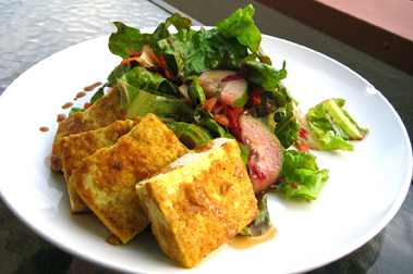 Curry Fried Tofu Salad