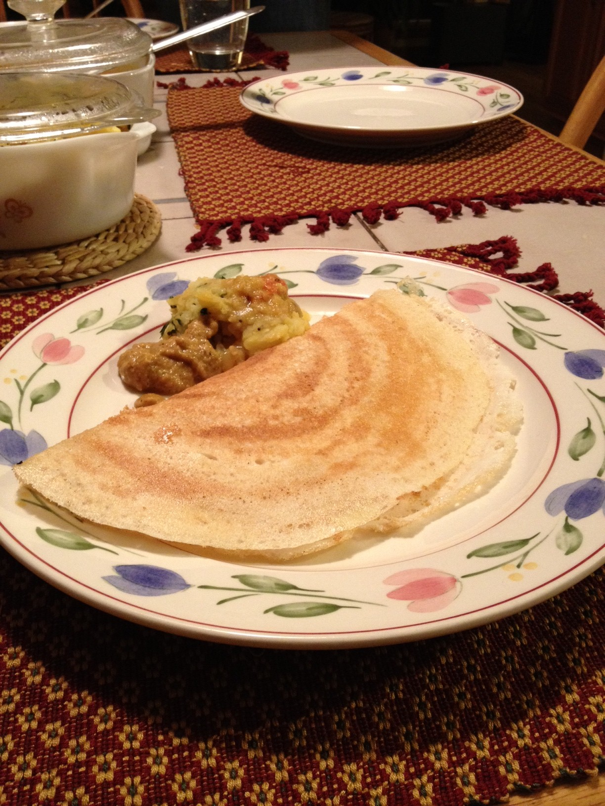 Dosas (from scratch!): Fermented Lentil and Rice Crepes