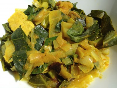 Tempeh Greens with Curry in a Hurry